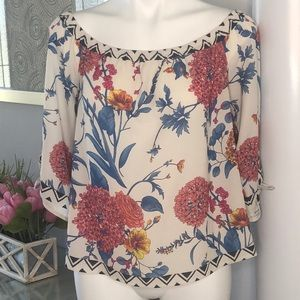Flying Tomato Off The Shoulder Floral/Geo Top, M